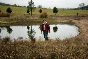 Dec Bruce at pond